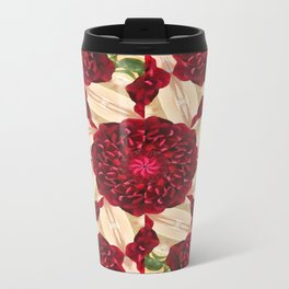 Old Red Rose Kaleidoscope 14 Travel Mug