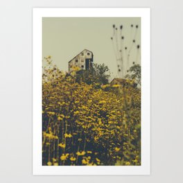 Strange Abandoned Architecture in the Middle of Nowhere Art Print