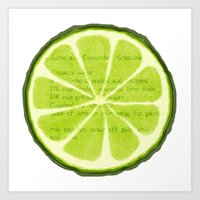 lime Art Prints featuring Lime by Linde Townsend