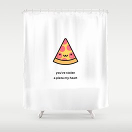 JUST A PUNNY PIZZA JOKE! Shower Curtain