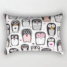 Adorable little penguin illustration pattern Rectangular Pillow
