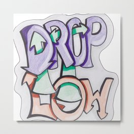 Drop It Low Metal Print