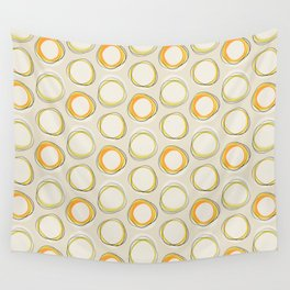 Solar Eclipse MCM Lines Wall Tapestry