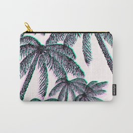 Tropical Palm Trees in Pink Teal Black Carry-All Pouch