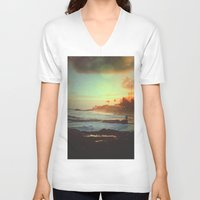 paradise V-neck T-shirts featuring Paradise by Polishpattern