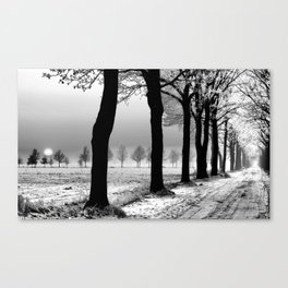Winter Landscape (Winter Trees, Setting Sun) Canvas Print