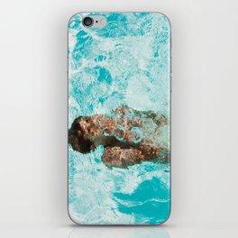 Underwater swimming iPhone Skin