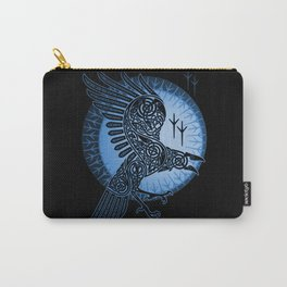 Viking Raven of Death - Blue Carry-All Pouch