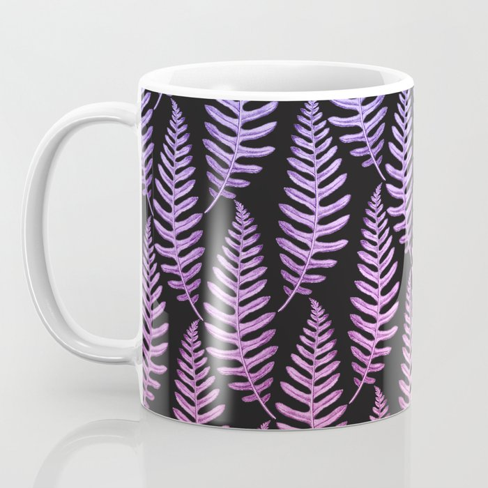 Multi Color Leaves (Black) Coffee Mug