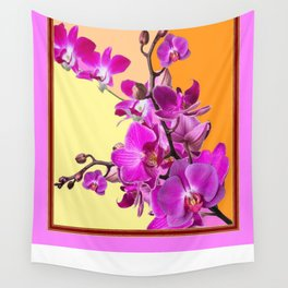 Contemporary Yellow-Purple Orchid Sprays Art Design Wall Tapestry