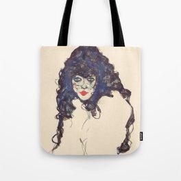"Egon Schiele ""Frau mit schwarzem Haar (Woman with black hair)"" Tote Bag"
