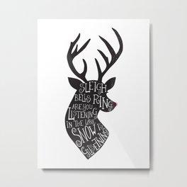 Walking In A Winter Wonderland Reindeer Metal Print
