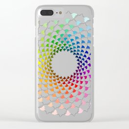 COLOURFUL COOS Clear iPhone Case