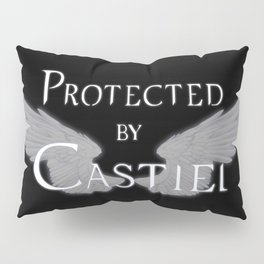 Protected by Castiel White Wings Pillow Sham