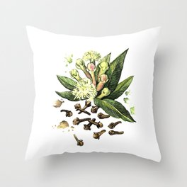 Watercolor Clove Throw Pillow