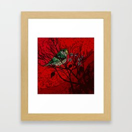 A bird in the bush Framed Art Print