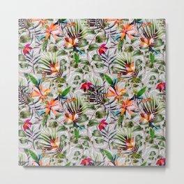 Wild Succulent Flowering Metal Print
