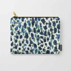 Blue & Green Brushstrokes Carry-All Pouch