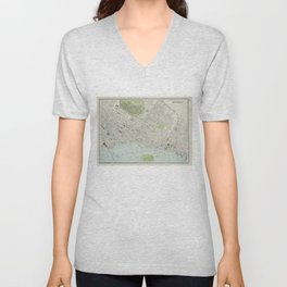 Vintage Map of Montreal (1901) Unisex V-Neck