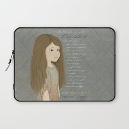 Portrait of Cosette from Les Misérables Laptop Sleeve