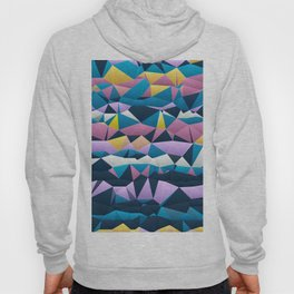 Multi colored purple blue quilted pattern abstract Hoody