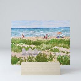 Sunday Morning at the Beach Mini Art Print