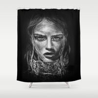 cara Shower Curtains featuring Cara Delevingne by Creadoorm