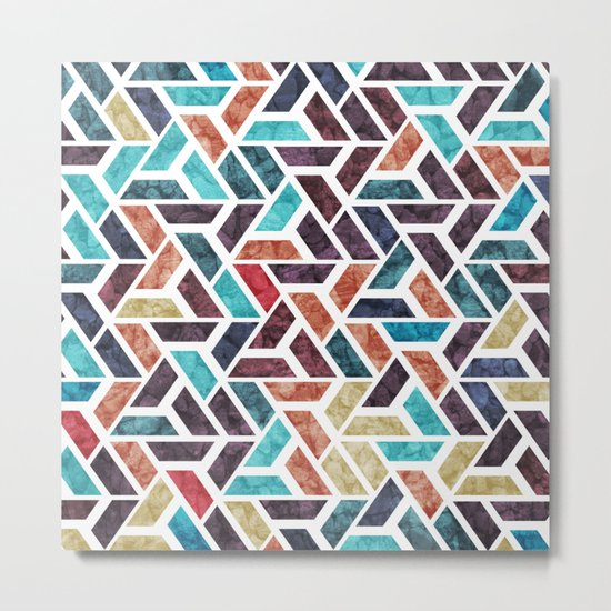 Seamless Colorful Geometric Pattern XVI Metal Print