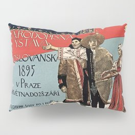 Czechoslav ethnographic exposition vintage ad Pillow Sham