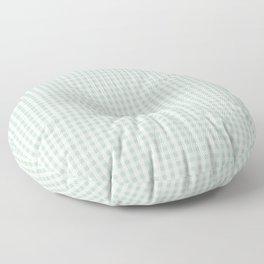 Gingham in Sage Floor Pillow