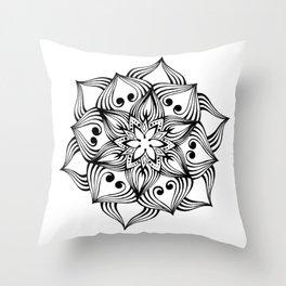MandalArt Flower Throw Pillow