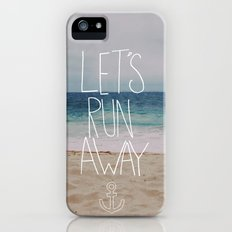 Let's Run Away | Sandy Beach, Hawaii Slim Case iPhone (5, 5s)