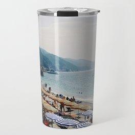 Sunbathers in Cinque Terre Travel Mug