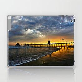 Seagull Sunset ~ Huntington Beach Pier   Laptop & iPad Skin