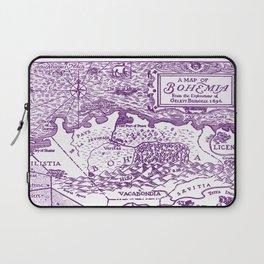 Map of Bohemia (purple) Laptop Sleeve