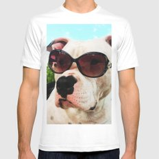 Lilly White MEDIUM Mens Fitted Tee