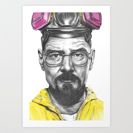 Walter White Breaking Bad Art Print