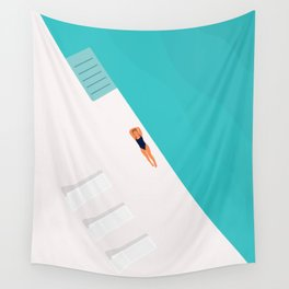 Living The Dream | Aerial Illustration  Wall Tapestry