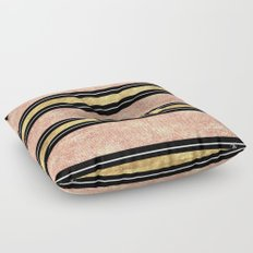 Simple rose gold stripes pattern Floor Pillow