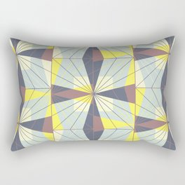 It's complicated. Bold geometric pattern in marsala, yellow and charcoal. Rectangular Pillow