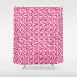Paisley Pattern, Pastel Coral Pink and Fuchsia Shower Curtain