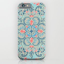 Gypsy Floral in Red & Blue iPhone Case