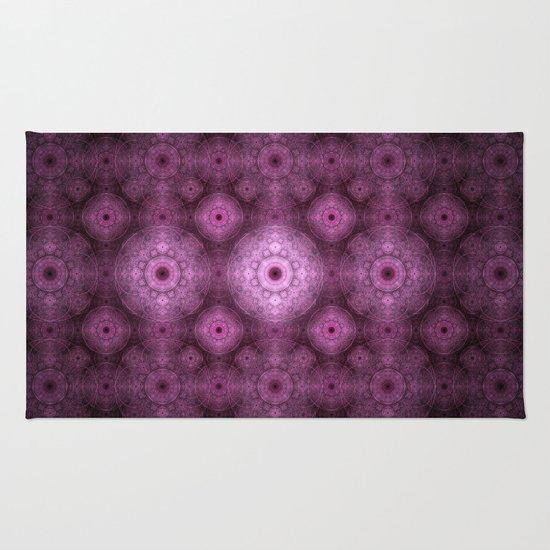 Pink Fractal Pattern Rug
