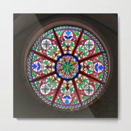 Church window rosette Metal Print