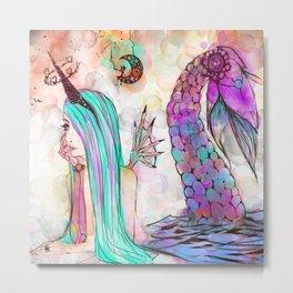Sirena Trampa Metal Print