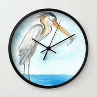 harry Wall Clocks featuring Harry by Catherine Holcombe