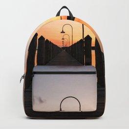 Rusty Rudder Dock Sunset Backpack