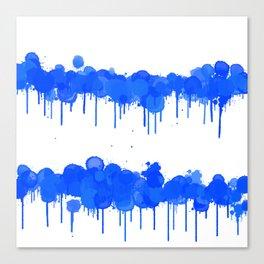 Blue Splash ink Lines Canvas Print