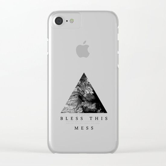 Bless this mess Clear iPhone Case