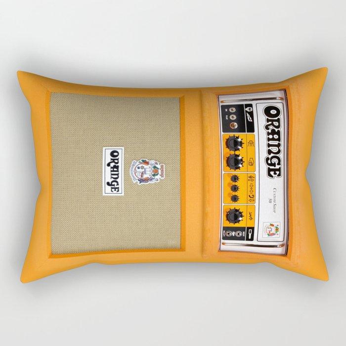Retro Orange guitar electric amp amplifier iPhone 4 4s 5 5s 5c, ipad, tshirt, mugs and pillow case Rectangular Pillow